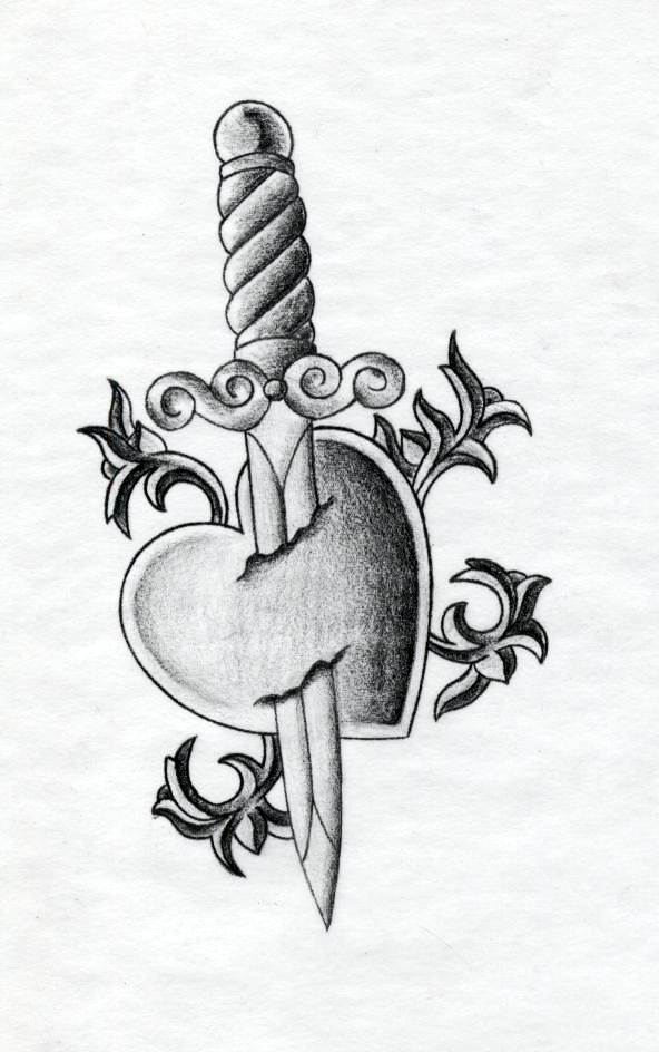 Drawn dagger heart dagger On by Explore evendesignz daggertattoo