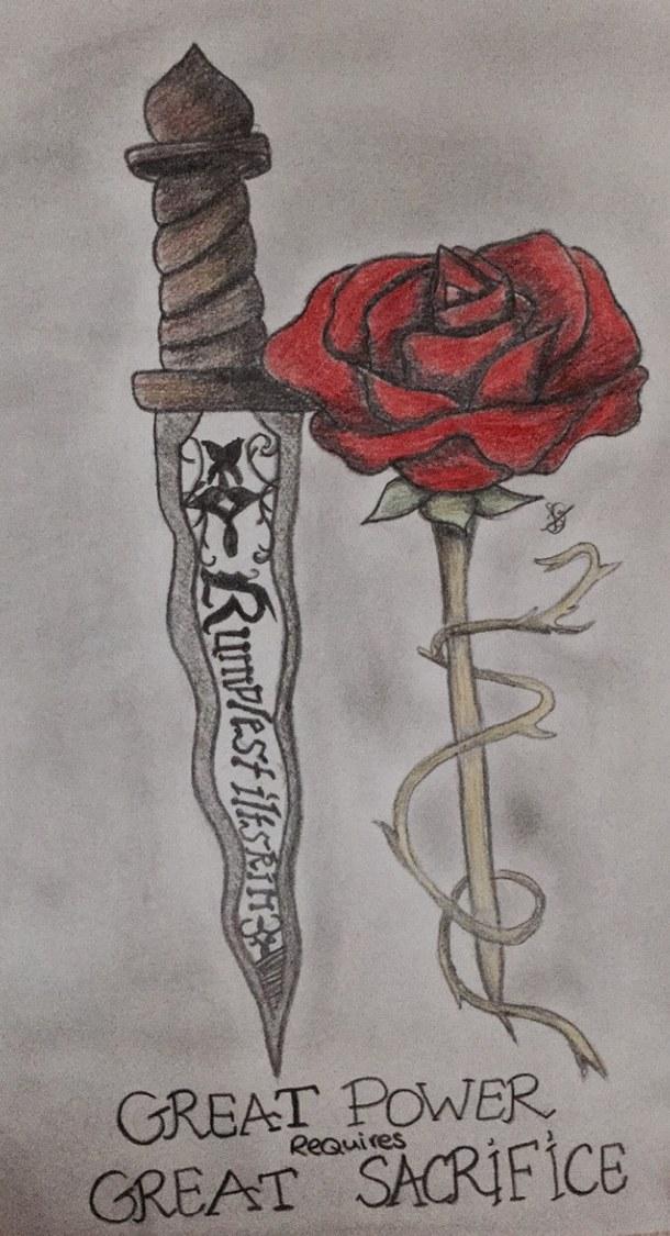 Drawn dagger magic Dagger a fairytale drawing dagger