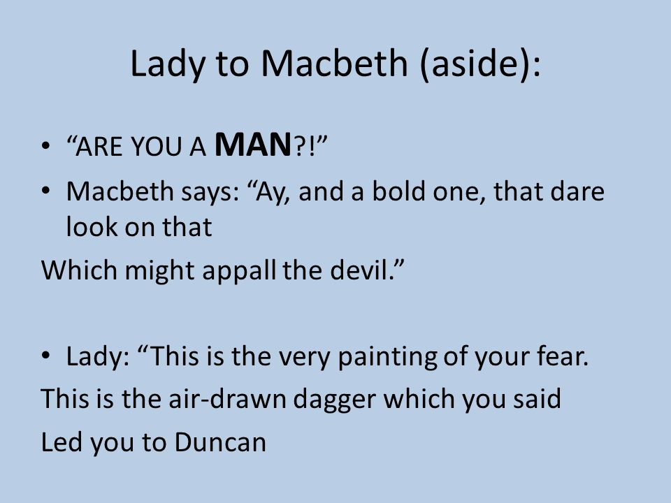 Drawn dagger one Lady download ACT MACBETH 54