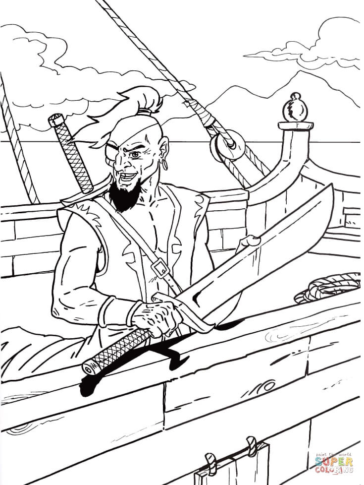 Drawn dagger pirate Page sword Dagger his holding