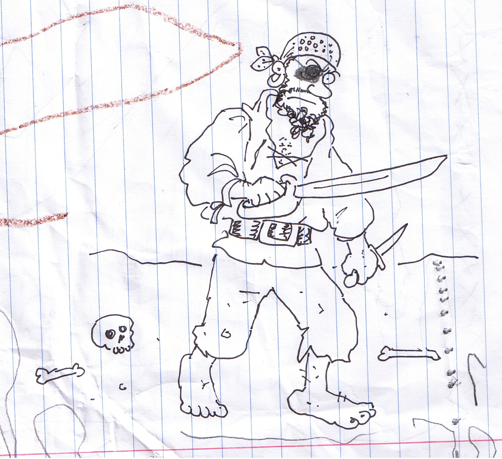 Drawn dagger pirate For Heroic a make Gruesome