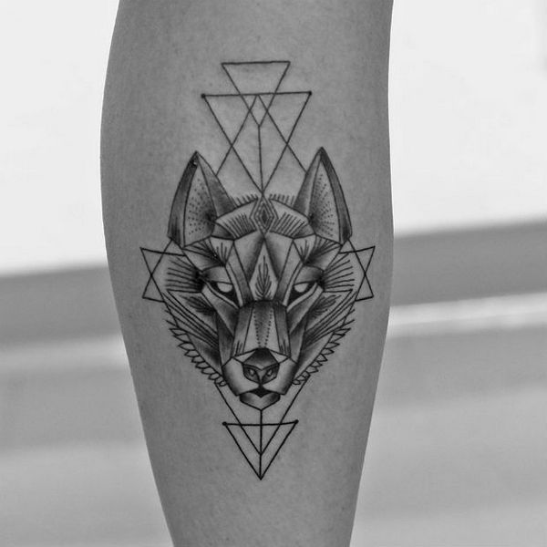 Drawn dagger wolf Tattoo Women Men Traditional Yours