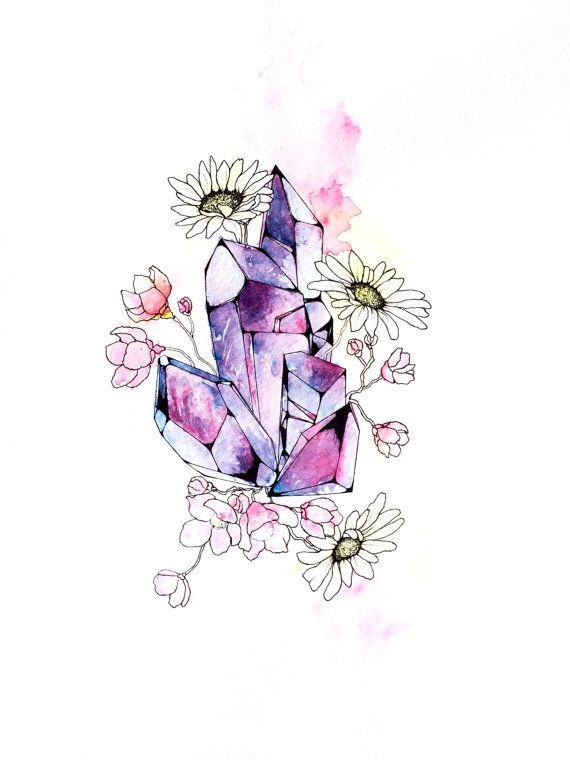 Drawn lightning crystal #14