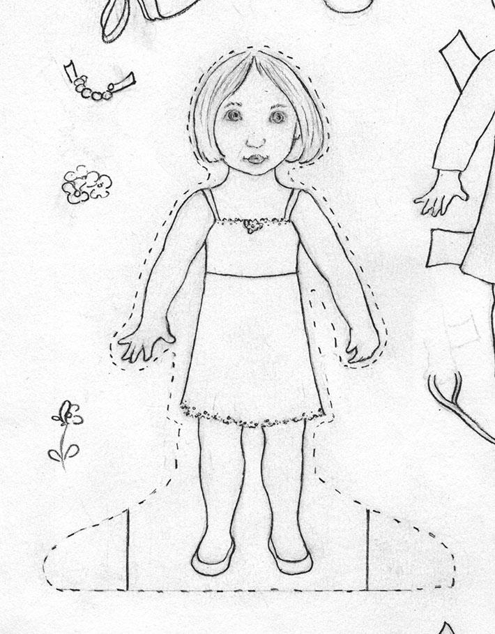 Drawn dall Paper Step at doll Make