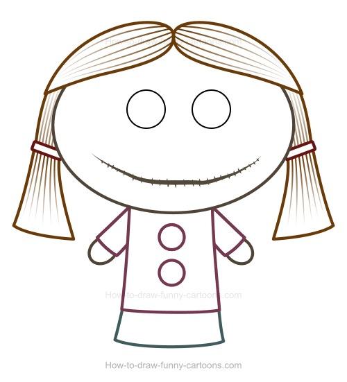 Drawn dall Cartoon How Cartoon A Doll
