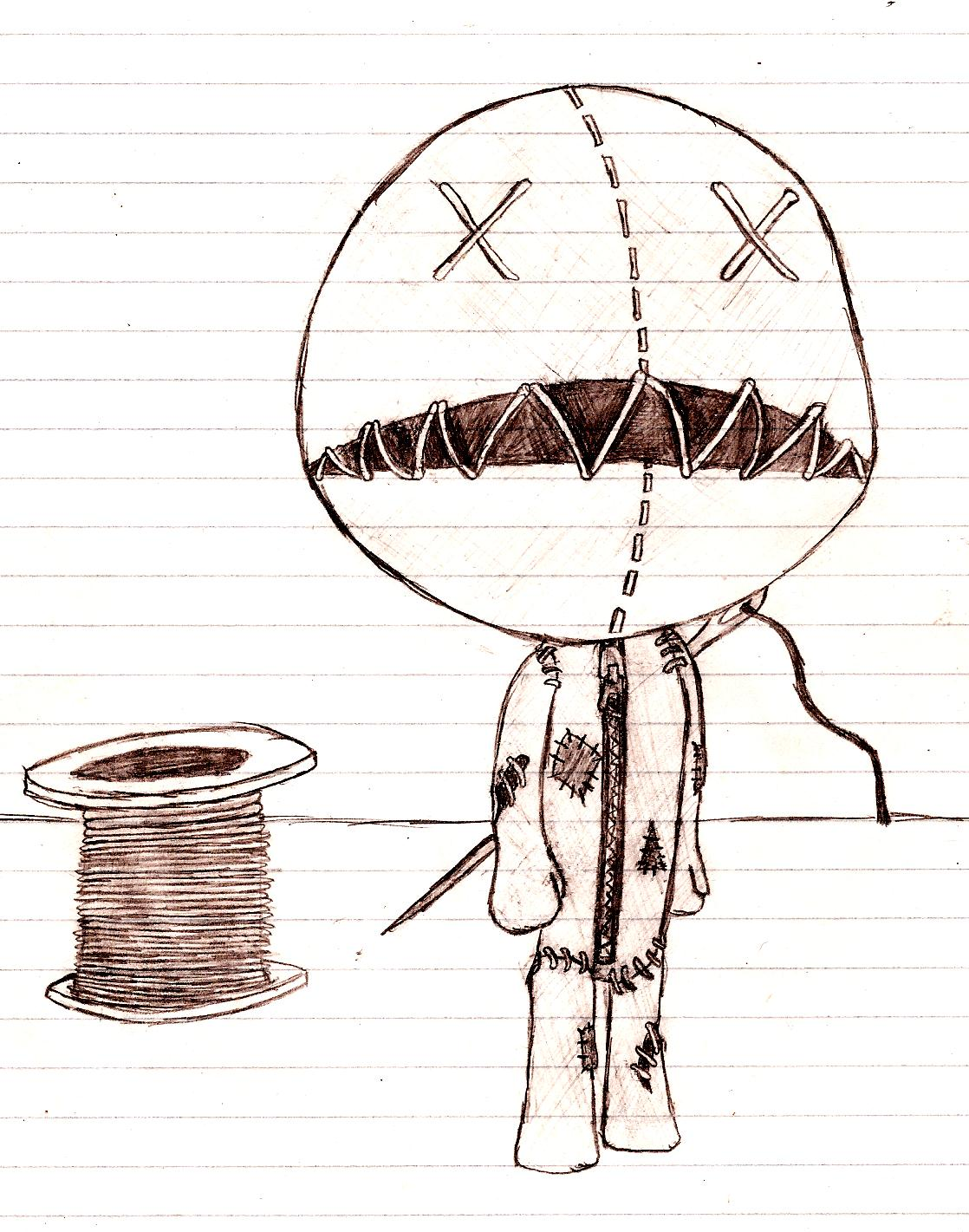Drawn dall horror doll #6