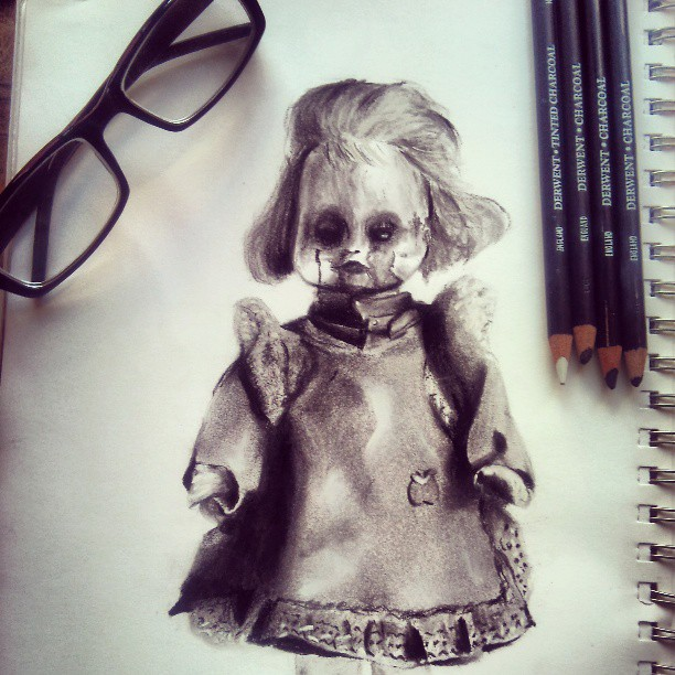 Drawn dall horror doll #7