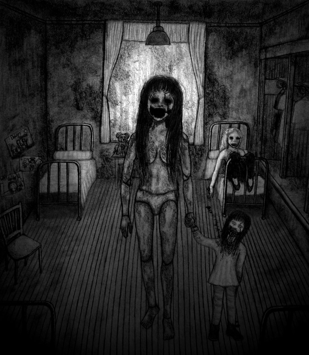 Drawn dall horror doll #5