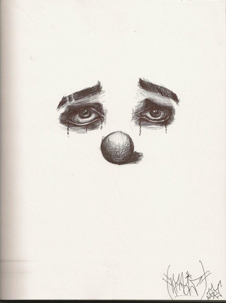 Drawn sad high Pinterest Sad clowns sketch clown