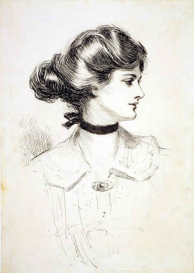 Drawn dall woman hairstyle #6