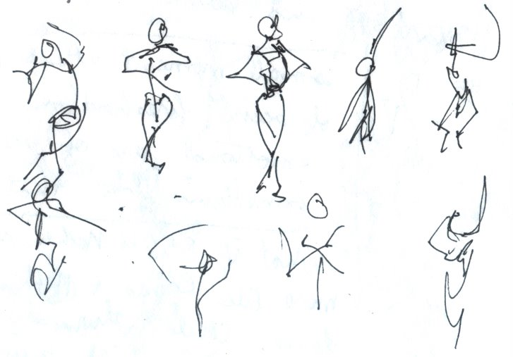 Drawn dance Thumbnails Dancer in draw to