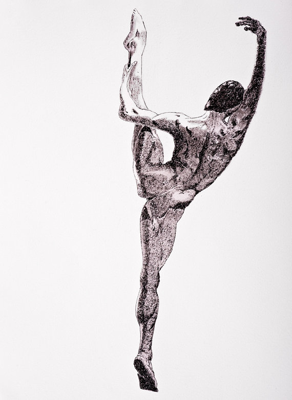 Drawn dance Dancer Male 00  Painting
