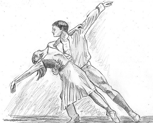 Drawn dance Dance pencil dance Flickr from