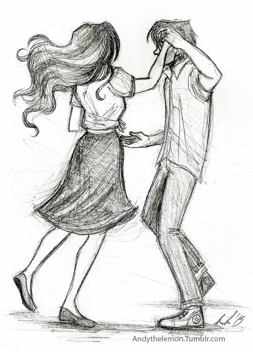 Drawn dance Couple Google sketch in couple
