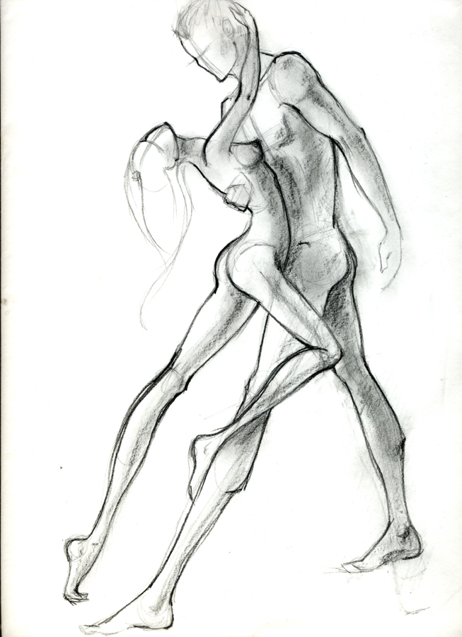 Drawn women big Sketches and Just Dancers sketch
