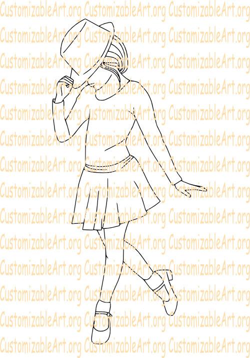 Drawn dance Dance Girl Digi Dancing Tap