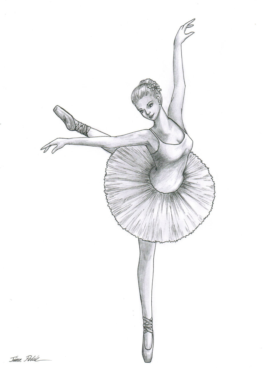 Drawn dance To ballerinas draw Ballerina how