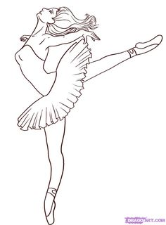 Drawn ballerina color Ballerina coloring Pages Draw Step
