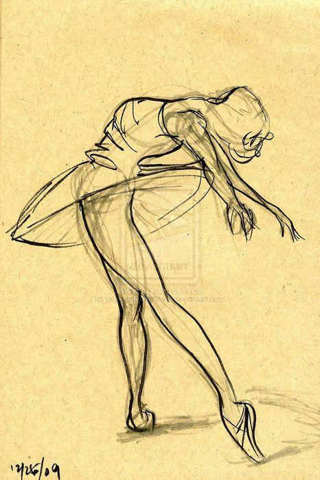 Drawn ballerine sketch Ideas Best Pinterest Dancer that