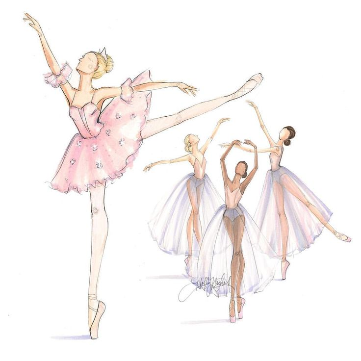 Drawn ballerina fashion illustration Dancer sketches Pin Find and