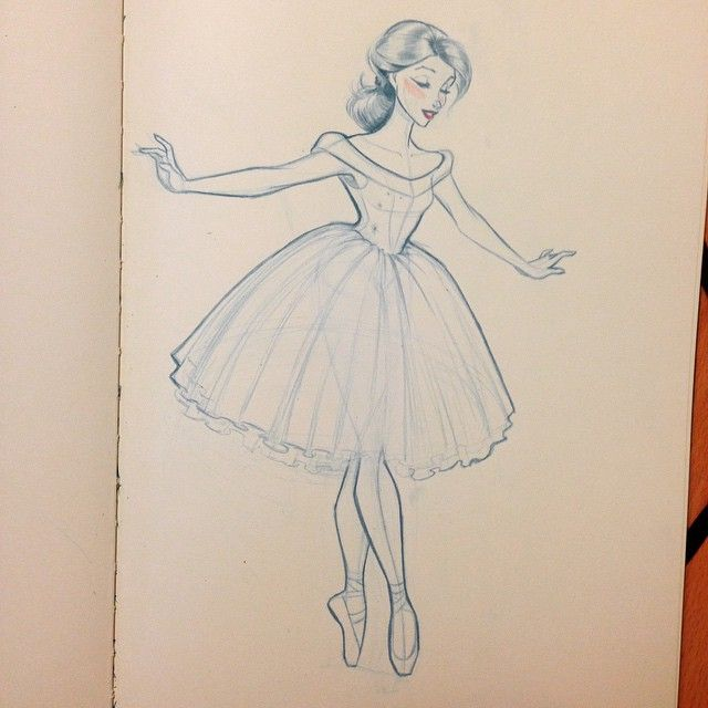Drawn ballerine female dancer #11