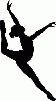 Gymnastics clipart dance Silhouette SilhouetteSilhouette Search Silhouette gymnast