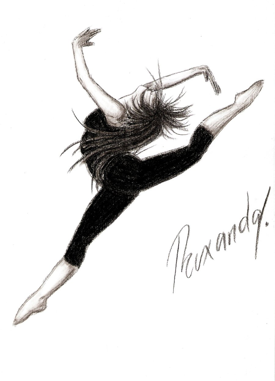 Drawn ballerine modern dancer ~Maripossa17 dance on ~Maripossa17 by