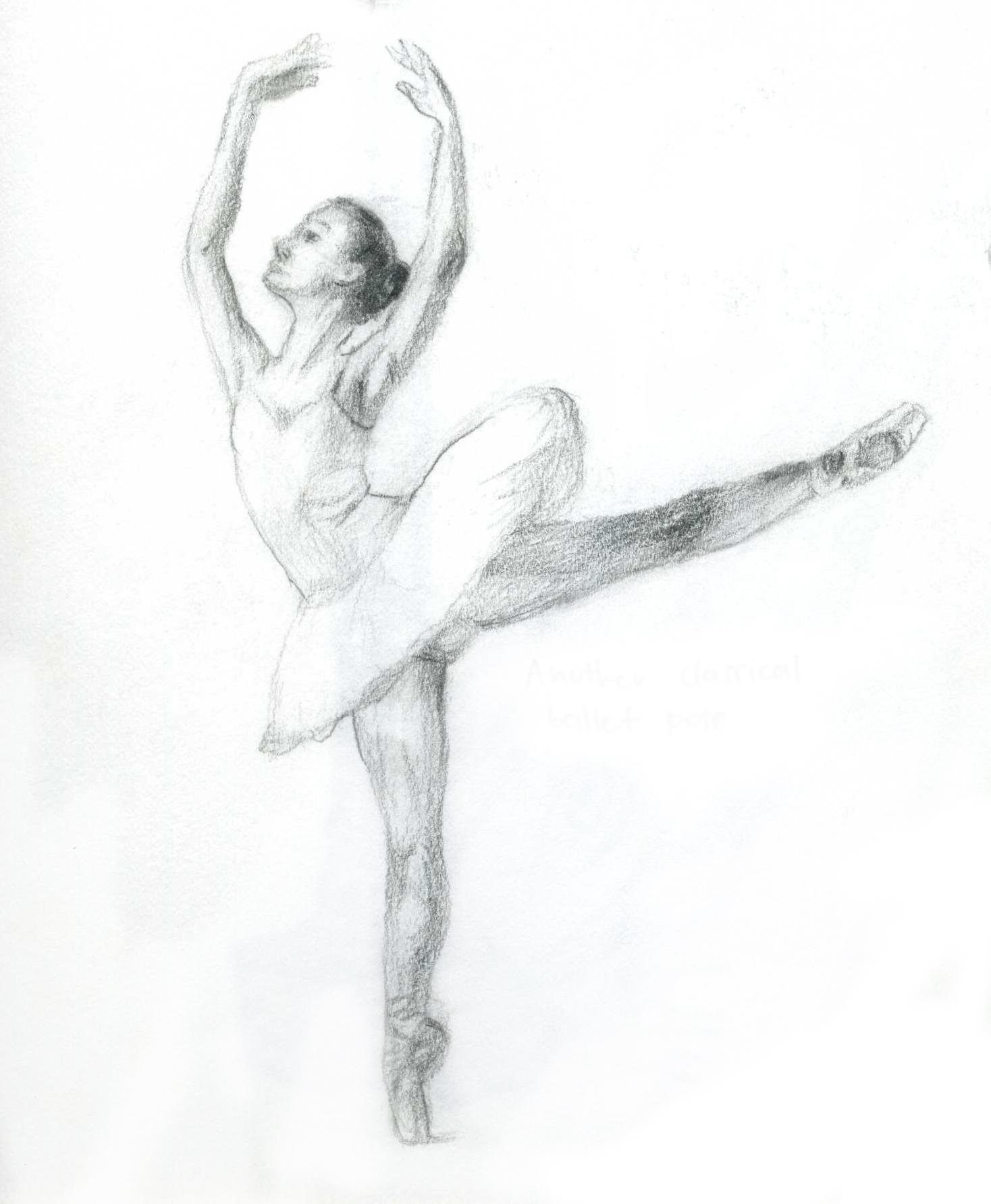 Drawn ballerine sketch Of Sketches  dancers