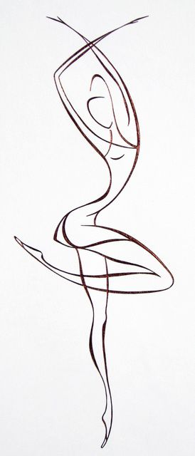 Drawn dancer Lyudmila like that Best will
