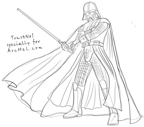 Drawn darth vader How draw to draw to
