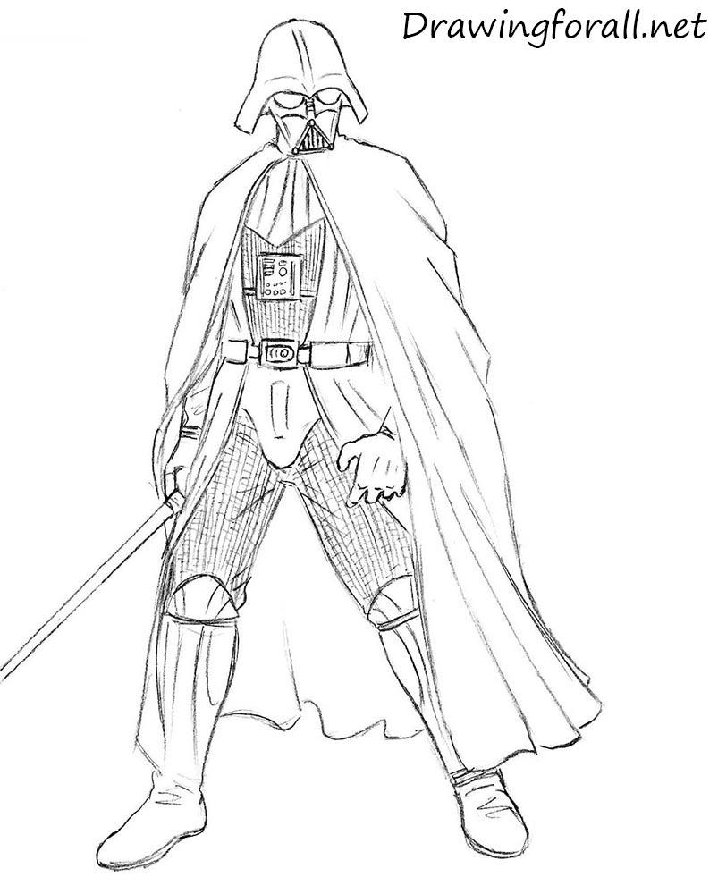 Drawn darth vader Draw Vader Darth to How