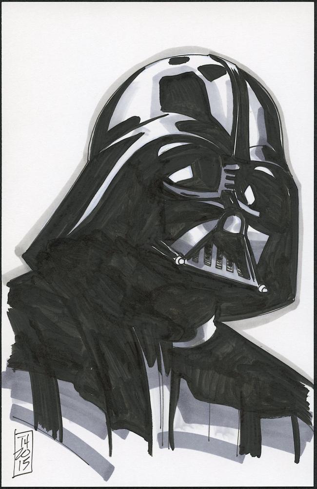 Drawn star wars darth vader 5