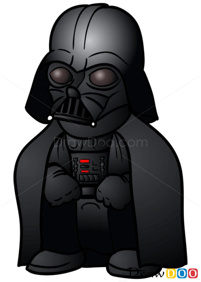 Drawn star wars darth vader Draw Chibi Wars to Vader
