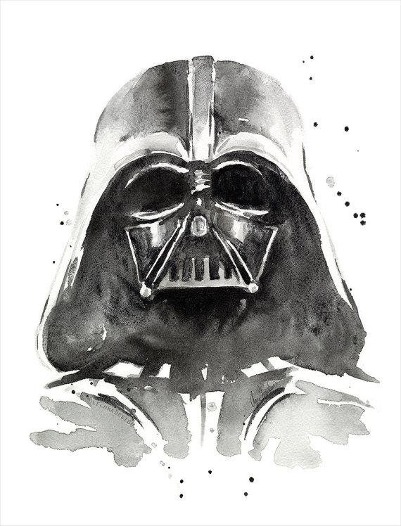 Drawn darth vader darrh Dark Art Vader Watercolor Side