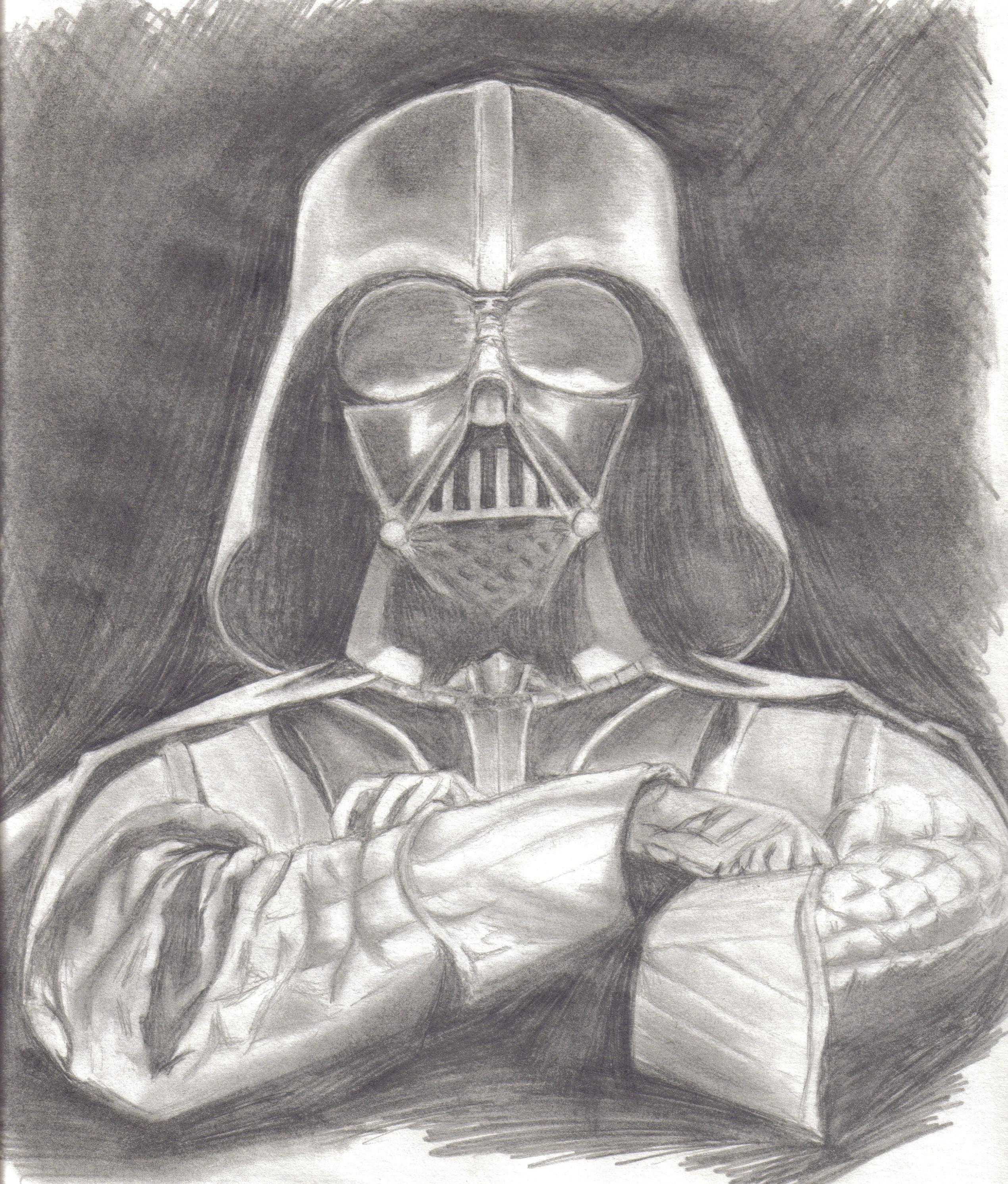 Drawn darth vader darrh Wars Archives Pencil of Darth