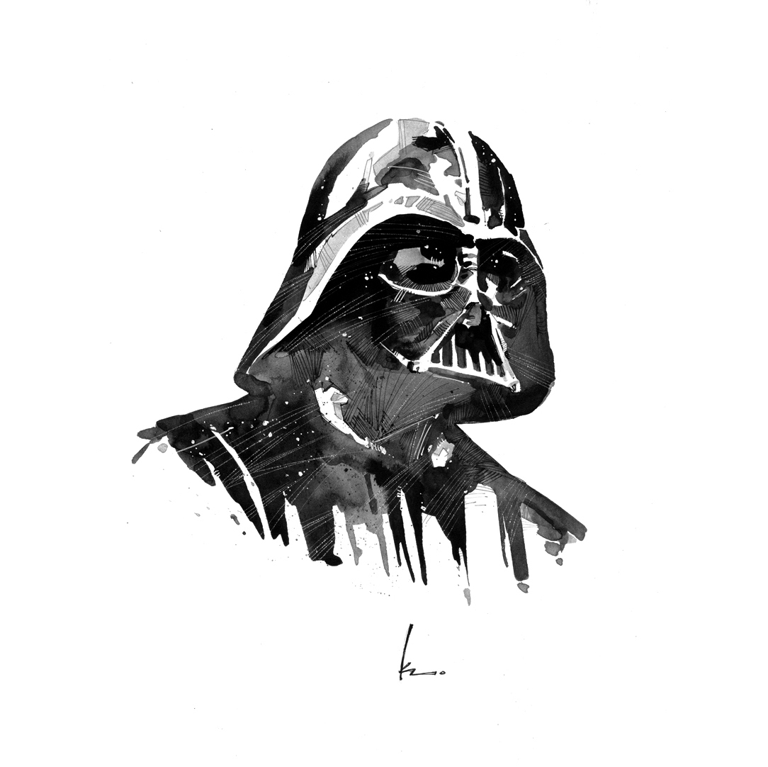 Drawn darth vader darrh Star Wars Darth art Darth