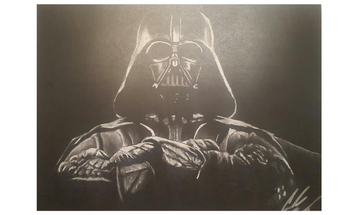 Drawn darth vader darrh The 11x14 Star Wars Dark