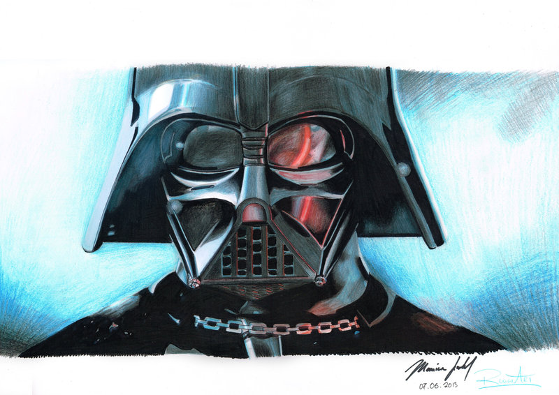 Drawn star wars darth vader Star Wars by Darth Star