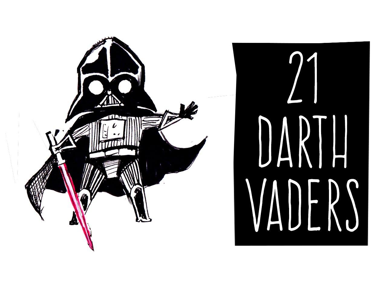 Drawn wars doodle 21 Vaders! Vaders! Doodles YouTube