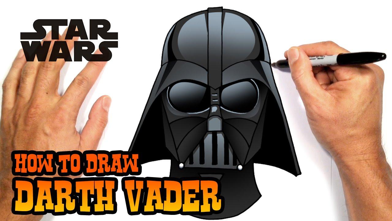 Drawn star wars darth vader Draw Star YouTube to Vader
