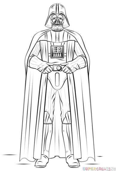 Drawn star wars full body Step to by tutorials to
