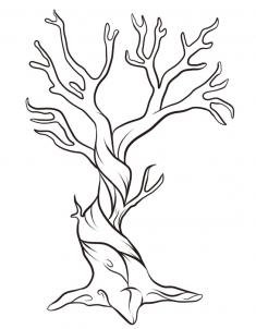 Drawn dead tree How to Hellokids Step 7