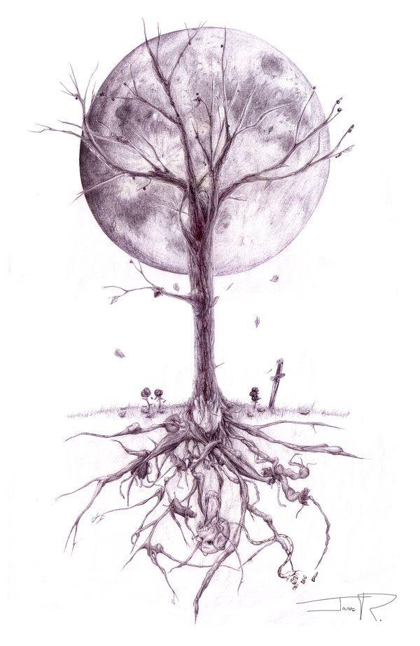 Drawn dead tree Pinterest Junkies Tattoo 25+ deviantART