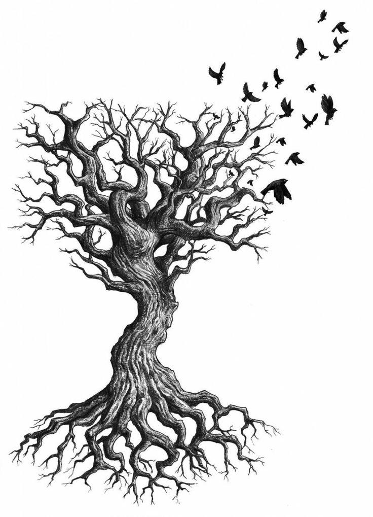 Drawn dead tree Dead Best Dead Tree tattoo