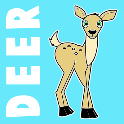 Drawn dear animated Step to with Deer Step