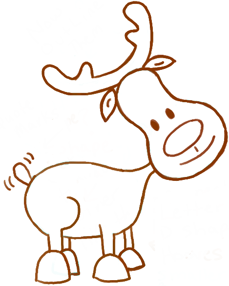 Drawn reindeer funny cartoon For  Clipart albitrefamilylove Reindeer