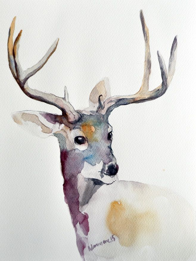 Drawn reindeer pinterest Contemporary painting drawing Winter 25+