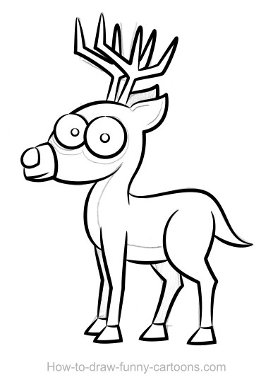 Drawn reindeer beginner Drawings vector) drawings Deer Deer