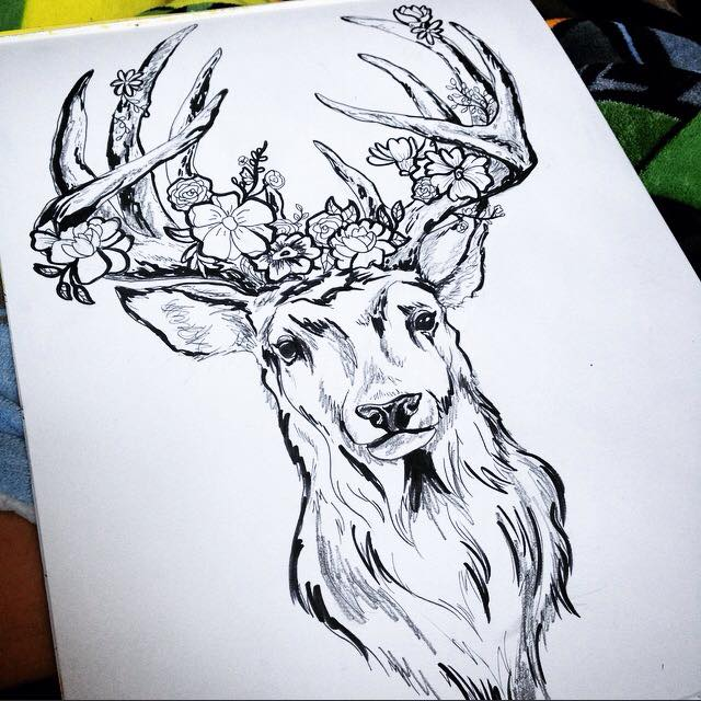Drawn stag full body About Tattoo All Tattoos drawing