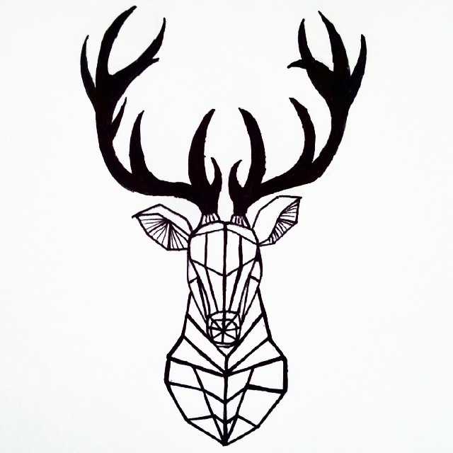 Drawn buck geometric Google INK tattoo haku geometric